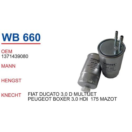 Wunder Fıat Ducato 3.0 D Mazot Filtresi Oem No:1371439080