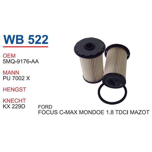 Wunder Ford Focus C-Max Mazot Filtresi Oem No:5Mq-9176-Aa