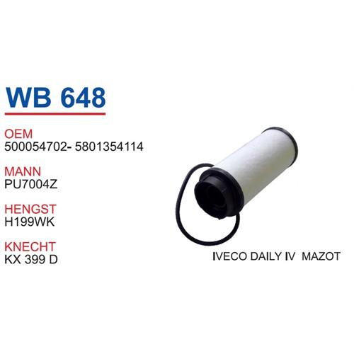 Wunder Iveco Daily 5 Kasa Mazot Filtresi Oem No:5801354114