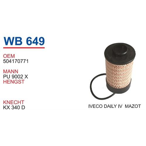 Wunder Iveco Daily 4 Kasa Mazot Filtresi Oem No:504170771