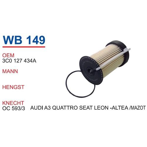 Wunder Audı A3 Quattro Mazot Filtresi Oem No:3C0127434a