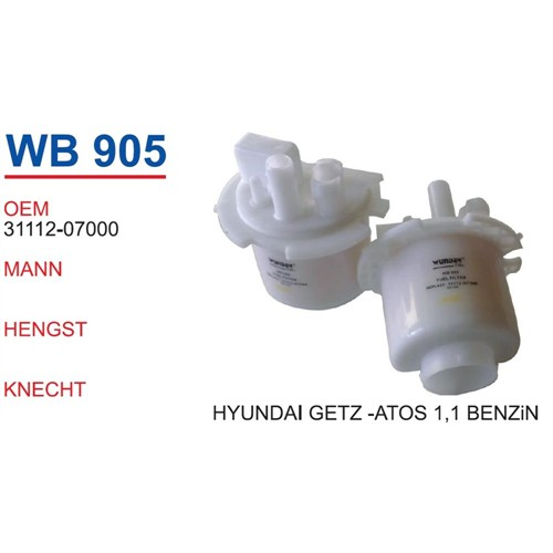 Wunder Hyundaı Getz Benzin Filtresi Oem No:31112-07000