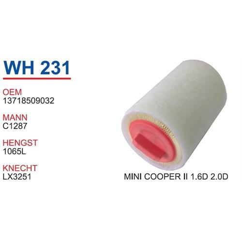 Wunder Mını Cooper 2 Kasa 2.0D Hava Filtresi Oem No:13718509032