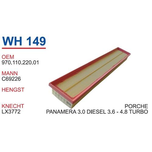Wunder Porche Panamera 3.6 Hava Filtresi Oem No:970.110.220.01