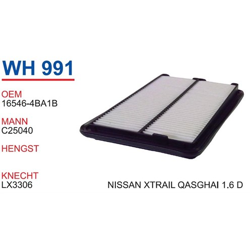 Wunder Nissan X-Trail 1.6 D Hava Filtresi Oem No:16546-4Ba1b