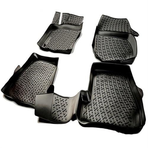 L.Locker Audi A6 (C8) 2014 Sonrası 3D Havuzlu Paspas (Siyah)
