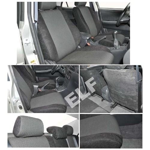 Z tech Volkswagen Amarok 2011 ve sonrası Siyah renk Araca özel Oto Koltuk Kılıfı