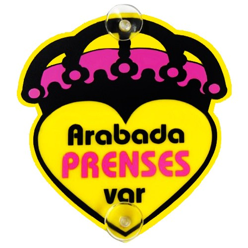 "Z tech ""Arabada Prenses Var Pleksi Sticker 14x13cm"