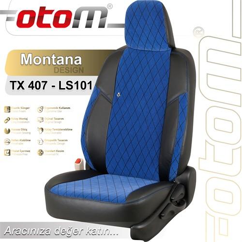 Otom V.W. Passat 1996-2004 Montana Design Araca Özel Deri Koltuk Kılıfı Mavi-102