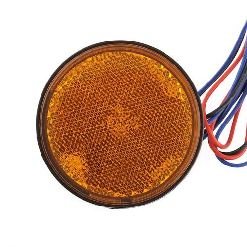 Knmaster Motosiklet Oval Kedi Gözü Sarı Ledli