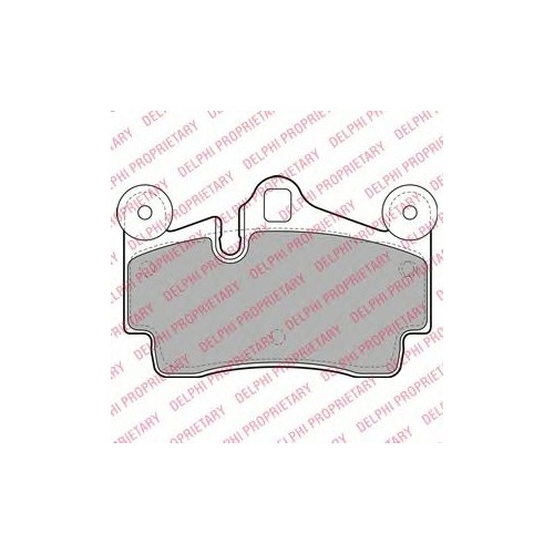 Delphı Lp1998 Arka Fren Balatası Touareg 2,5 Tdı-3.2 V6-4.2 V8-5.0 (17-18) 02--> Porsche Cayenne 02-->
