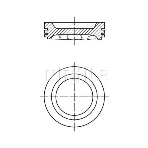 Mahle 0218301 Motor Piston Segman (0,50) R11 Flash-R21 1700 (81.50)