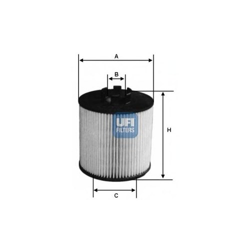 Ufı 2506400 Yağ Filtresi Astra G-H-J 1.2-1.4 16V-1.8- Corsa C-D- Zafıra 1.2-1.4- Merıva 1.4-Vectra C 1.8- Zafıra