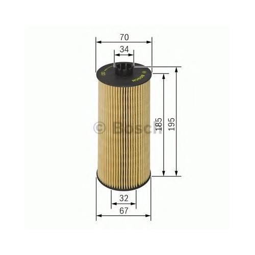 Bosch 1457429152 Yağ Filtresi Passat (98-05) 2.5Tdı- A4 (97-06)- A6 (97-05)- A8 (97-02) 2.5Tdı (Afb-Akn)