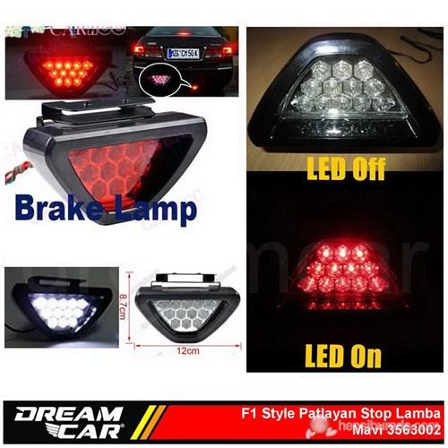 Dreamcar F1 Style Mavi Flash Patlayan Stop Lamba 12 Led 3563002