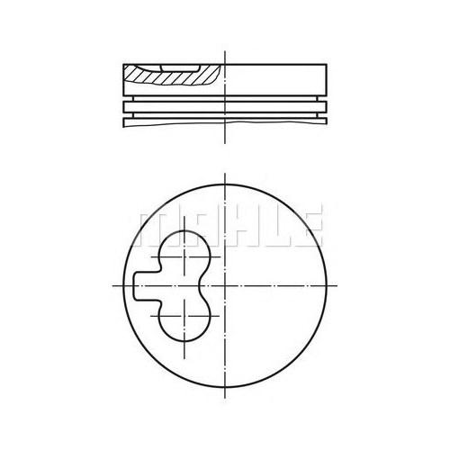 Mahle 0400100 Motor Piston Segman (Std) Partner 1.9 Ym Dw8 (82.20)
