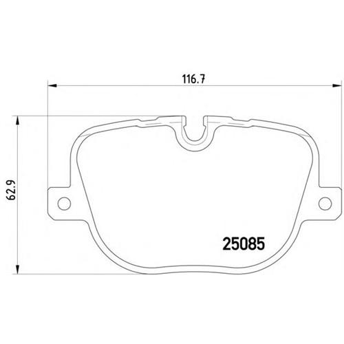 Bosch 0986Tb3097 Fren Balatası Arka (Land Rover: Range Rover Iıı 09-)