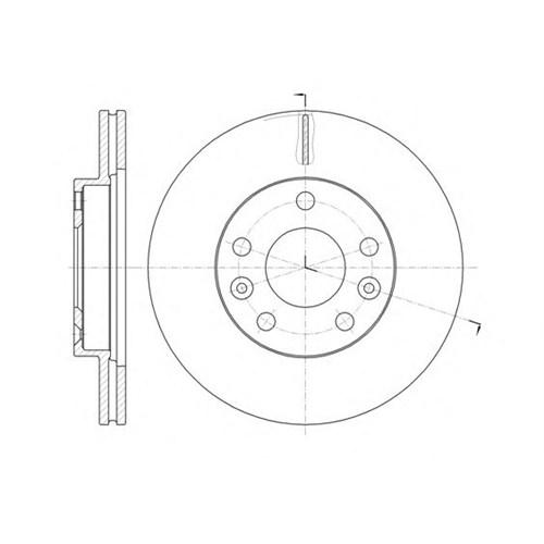 Delphı Bg4455 Fren Dıskı On 269Mm ( Dacıa : Duster 1.6 16V 10- 1.5Dcı 10-)
