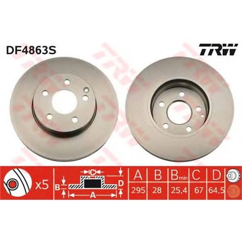 Bsg 60210036 Ön Disk Ayna - Marka: Ml - W204/212/207 - Yıl: 07- - Motor: Bm