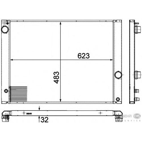 Behr 8Mk376780661 Marka: Bmw - E65/66 - Yıl: 05-10 - Radyatör - Motor: N52-53