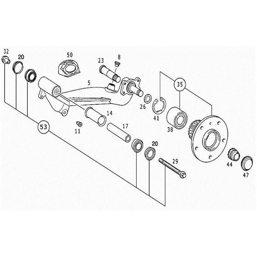Febı 21401 Arka Alt Tabla Bilya Takımı - Marka: Ml - W168 - Yıl: 97-04 - Motor: Bm