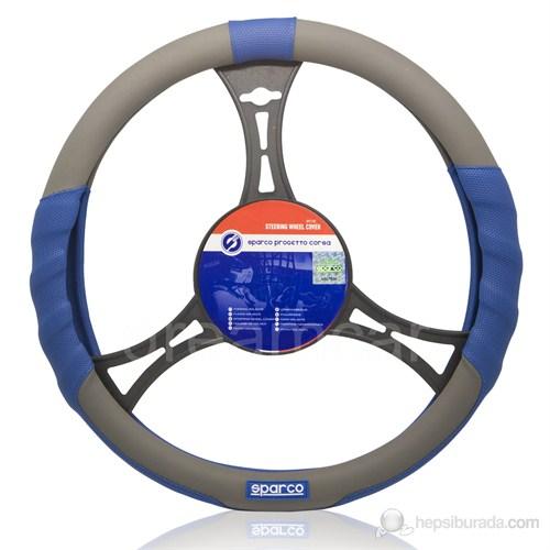 Sparco Sport Direksiyon Kılıfı Deri Gri+Mavi Spc1105