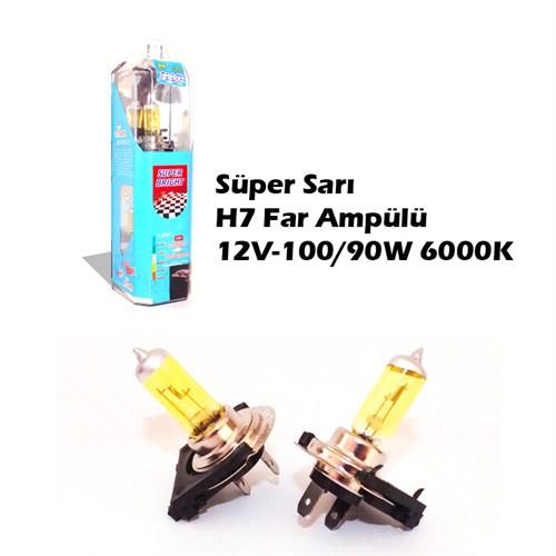 Autocet Csp Süper Sarı H7 Far Ampülü 12V-100/90W 6000K 9033