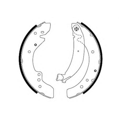 Bsg 70205003 Arka Fren Balata (Pabuçlu) - Marka: Pejo - Jumper/Boxer - Yıl: 94- - Motor: 2,5 D