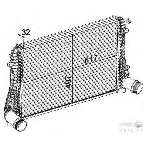 Behr 8Ml376746721 İntercooler Radyatörü - Marka: Vw - Caddy3/Scırocco/Golf5/Jetta - Yıl: 10- - Motor: 1,6 Tdı 2,0 Tdı
