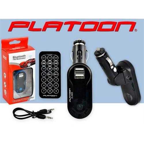 Platoon Pl-9243 Araç Oto Bluetooth Fm Transmitter Çakmak Şarj