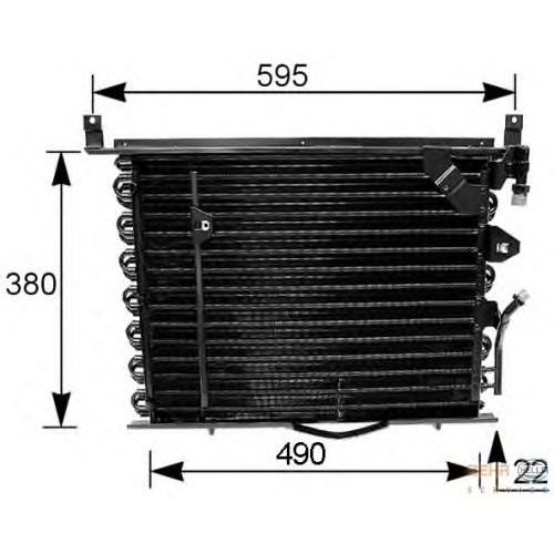 Behr 8Fc351035161 Klima Radyatörü - Marka: Ml - W201 - Yıl: 83-93 - Motor: Bm