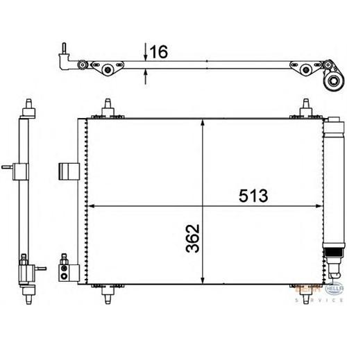 Behr 8Fc351309331 Klima Radyatörü - Marka: Pejo - - Yıl: 06- - Motor: 1,6 Hdı