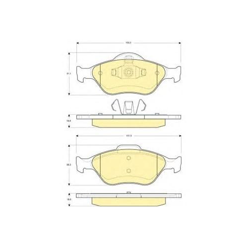 Autotech 217-180 Ön Balata Fıesta 1.4Tdcı Abslı 00=> Fusıon 02=> Mazda 121 96=> Mazda 2 03>