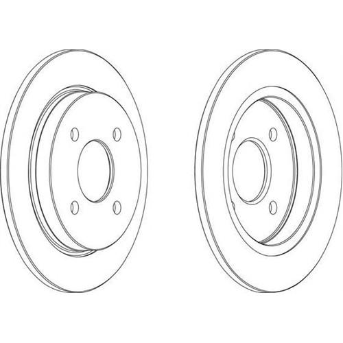 Valeo 186425 Fren Dıskı Arka Duz 253 Mm ( Ford : Focus 1.8 2.0 )
