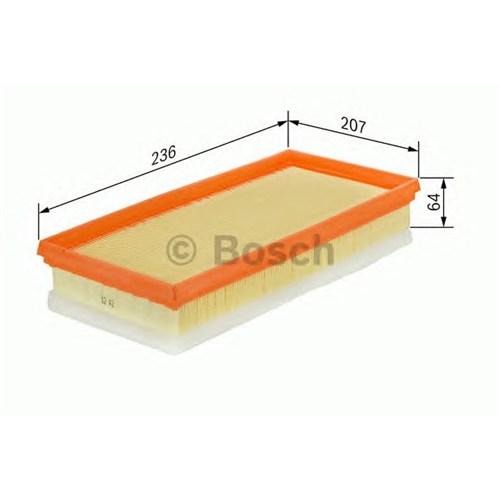 Bosch 1457433583 Fıltre Hava ( Volvo : S40 Iı / V50 2.4 T5 )