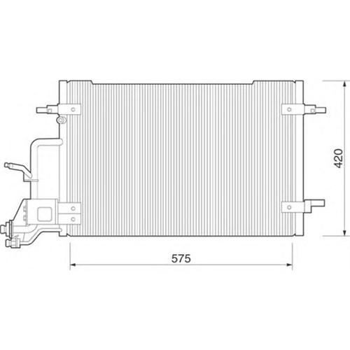 Gva 3475350 Klıma Kondenserı Passat (96-00) A4 (95-00) (610X420x19)