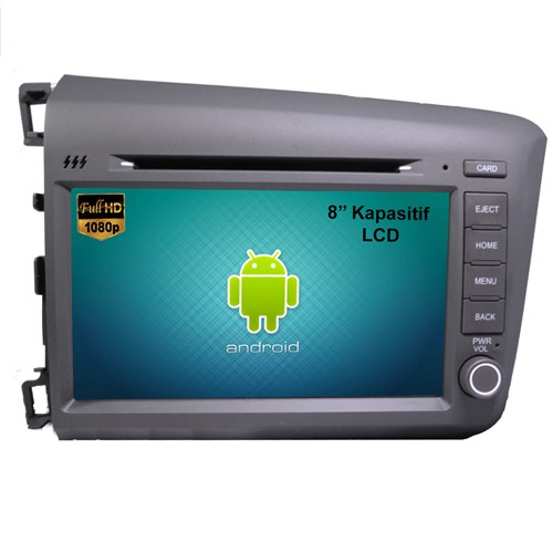 Honda Civic 2012 - 2016 Android Dvd Navigasyonlu Oto Teyp Multimedya
