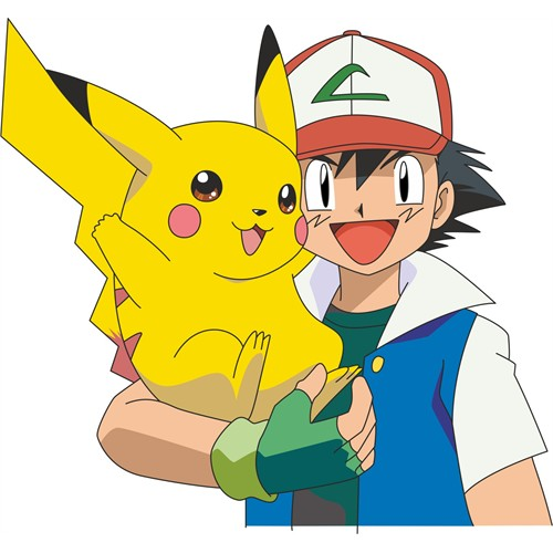 Pokemon Ash And Picachu Hug Sticker