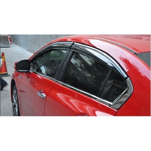 Z tech Honda Civic 2012 sonrası Mugen Cam Rüzgarlığı Ön/Arka ( A Kalite )
