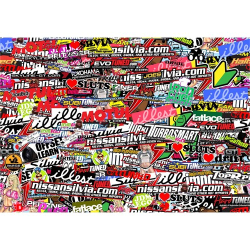 Hell Flush Baskılı Folyo Sticker 50x22,5cm