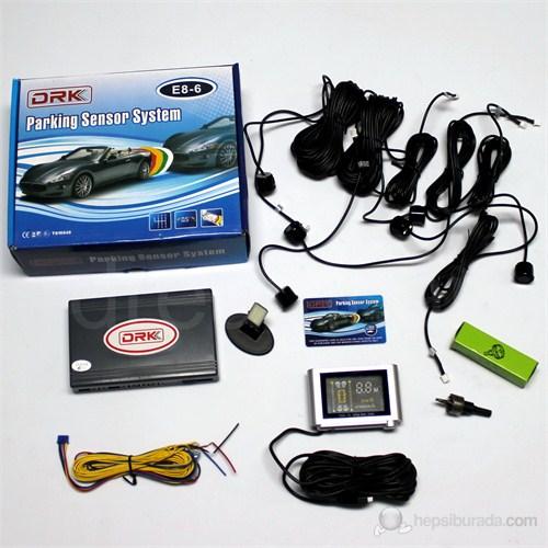 Dreamcar Drk Park Sensörü Ön/Arka 6 Sensörlü Dijital Ekranlı,Ses İkazlı 65234