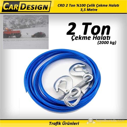 CarDesign 2 Ton %100 Çelik Çekme Halatı (6 mm) 3,5 Metre