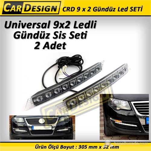 CRD Universal 9x2 SMD Ledli Gündüz Işığı Sis Lambası Seti