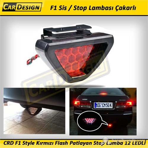 CRD F1 Style Kırmızı Flash Patlayan Stop Lamba 12 LEDLİ