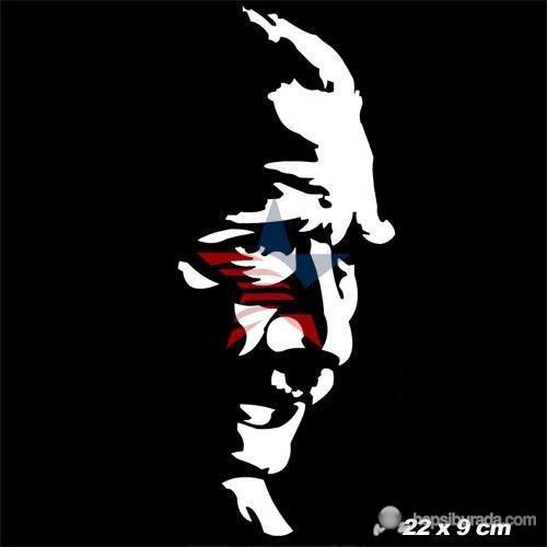 ModaCar Atatürk Siluet Beyaz Sticker 06a071