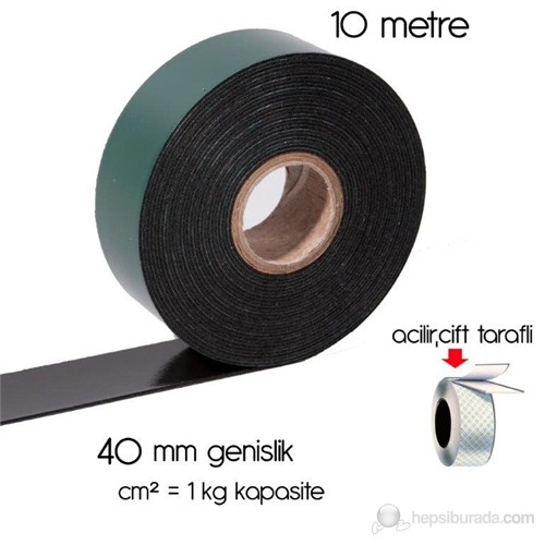 ModaCar Siyah Köpük Çift Taraflı Bant 4 cm x 10 Mt cm2=1 kg 551406