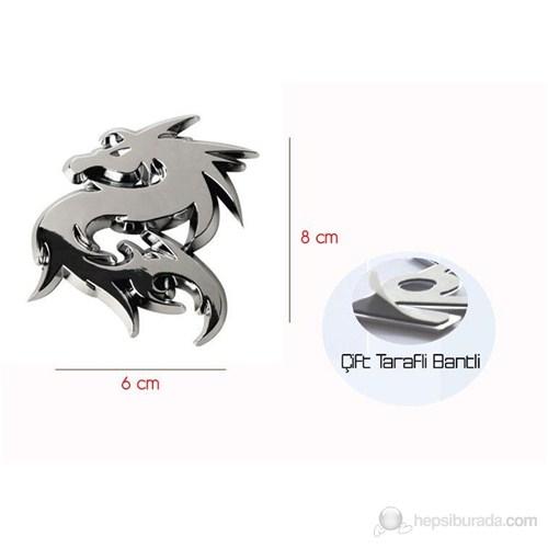 Modacar 3 Boyutlu Dragon Plastik Nikelaj Amblem 061179