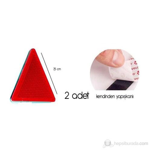ModaCar Kırmızı Üçgen Reflektör 75d088