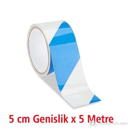ModaCar Beyaz Mavi Çapraz Fosfor Bant 540033