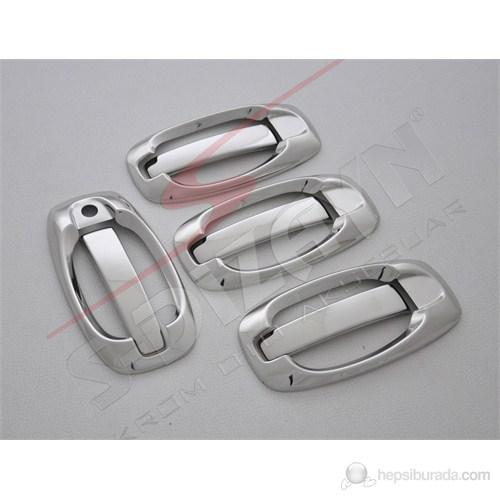 S-Dizayn Citroen Nemo Kapı Kolu 5 Kapı 10 Prç. P.Çelik (Set) (09.2008>)
